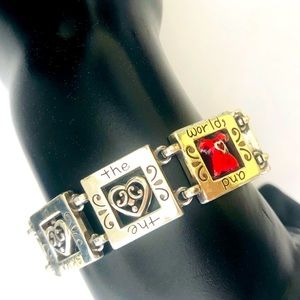 Brighton bracelet silver plated with red heart